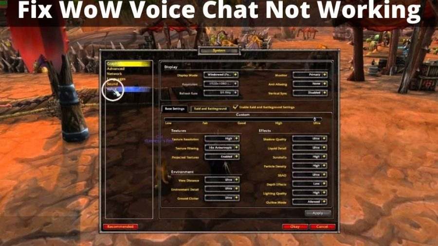 WoW Voice Chat Not Working